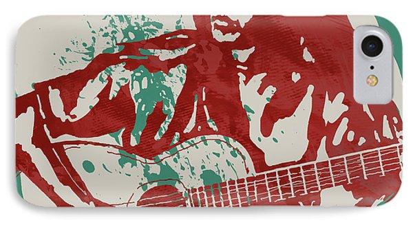 Joan Baez Strumming Pop Stylised Art Sketch Poster IPhone Case