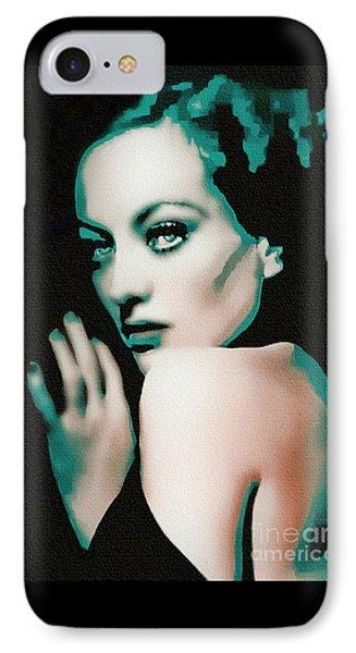 Joan Crawford - Pop Art IPhone Case by Ian Gledhill