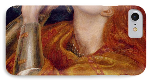 Joan Of Arc IPhone Case by Dante Charles Gabriel Rossetti