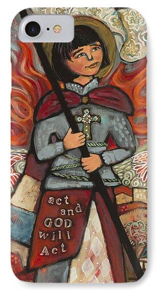 Joan Of Arc IPhone Case by Jen Norton