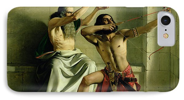 Joash Shooting The Arrow Of Deliverance IPhone Case by William Dyce