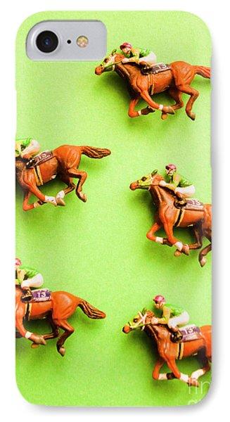 Jockeys And Horses IPhone Case by Jorgo Photography - Wall Art Gallery