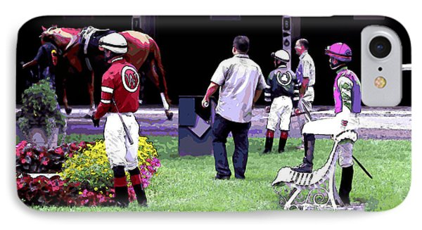 IPhone Case featuring the digital art Jockeys Painting by  Newwwman