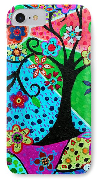 IPhone Case featuring the painting Jodi's Tree Of Life by Pristine Cartera Turkus