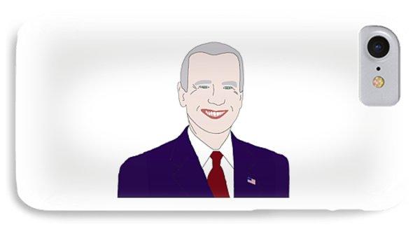 Joe Biden IPhone 7 Case by Priscilla Wolfe