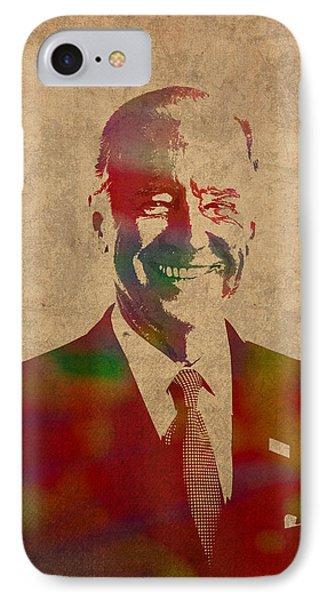 Joe Biden Watercolor Portrait IPhone 7 Case