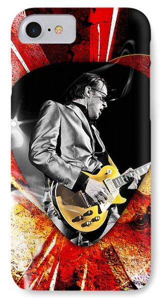 Joe Bonamassa Blue Guitar Art Phone Case by Marvin Blaine