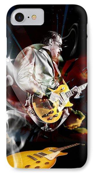 Joe Bonamassa Blue Guitarist Phone Case by Marvin Blaine