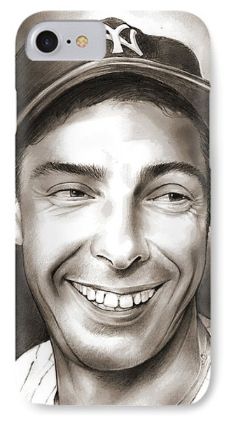 Joe Dimaggio IPhone Case by Greg Joens