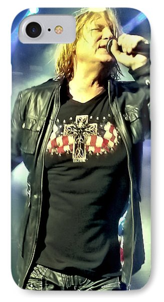 Joe Elliott Of Def Leppard IPhone 7 Case by David Patterson