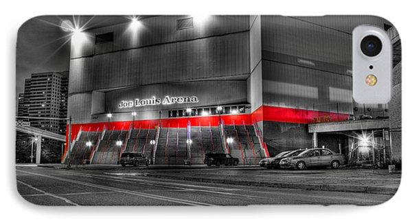 Joe Louis Arena Detroit Mi IPhone Case by Nicholas  Grunas