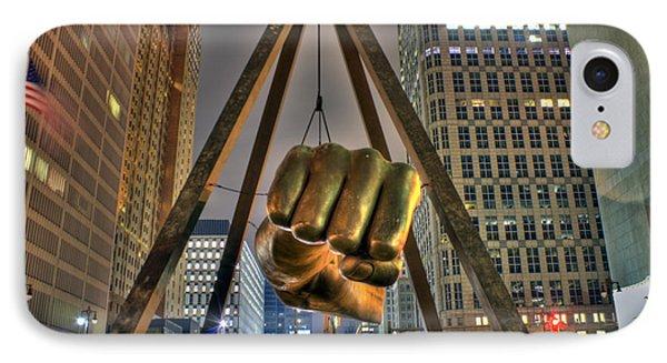 Joe Louis Fist Detroit Mi IPhone Case by Nicholas  Grunas