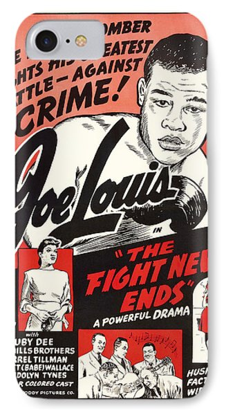 Joe Lous In The Fight Never Ends 1949 IPhone Case by Mountain Dreams