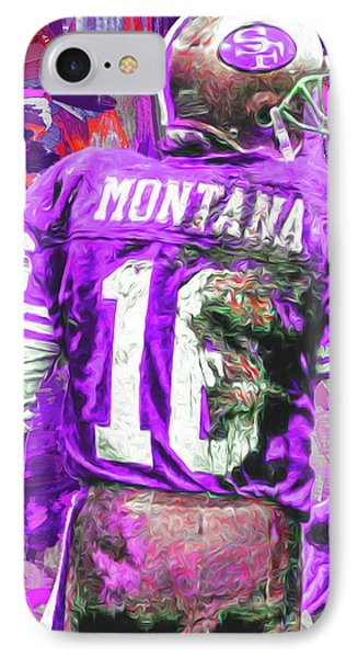 IPhone Case featuring the photograph Joe Montana 16 San Francisco 49ers Football by David Haskett