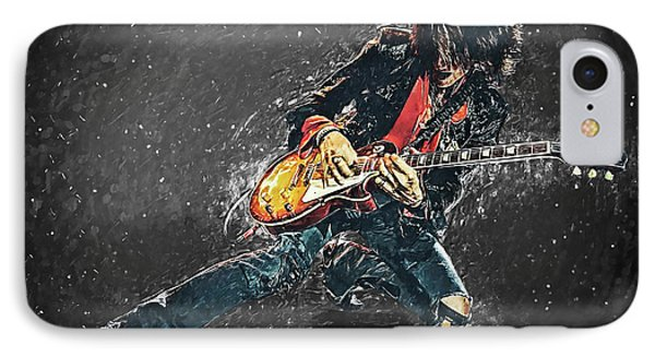 Joe Perry IPhone Case by Taylan Apukovska