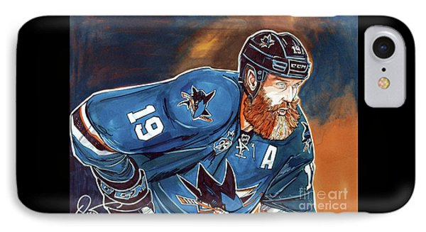 Joe Thornton IPhone Case by Dave Olsen