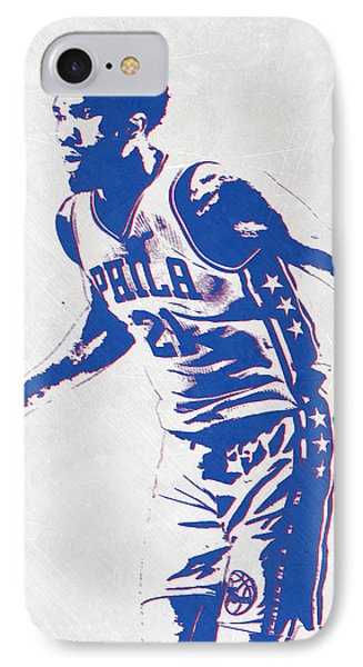 Joel Embiid Philadelphia Sixers Pixel Art IPhone Case