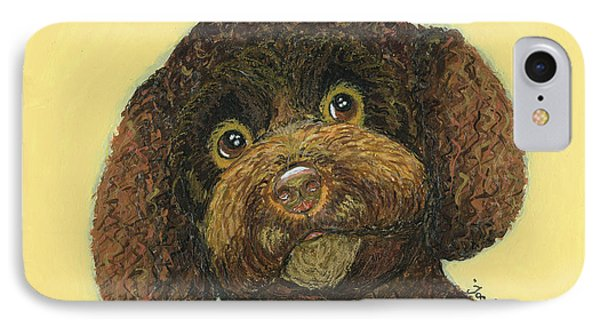 IPhone Case featuring the pastel Joey Poodle Mix by Ania M Milo