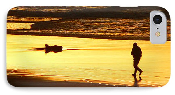 IPhone Case featuring the photograph Jog At Sunset by Larry Keahey