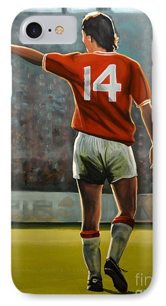Johan Cruyff Oranje Nr 14 IPhone Case by Paul Meijering