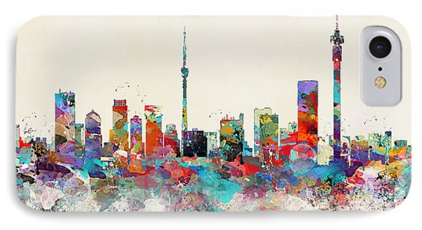 Johannesburg South Africa Skyline IPhone Case by Bri B