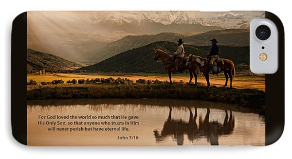 IPhone Case featuring the photograph John 3 16 Scripture And Picture by Ken Smith