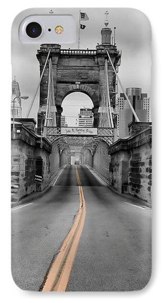 John A Roebling Suspension Bridge IPhone Case by Dan Sproul