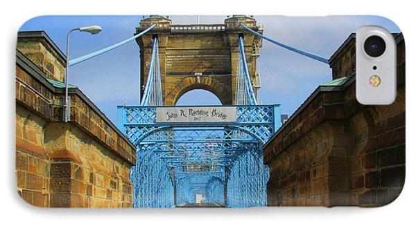 John A. Roebling Suspension Bridge IPhone Case by Michael Rucker