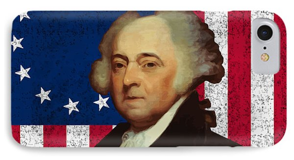 John Adams And The American Flag IPhone Case