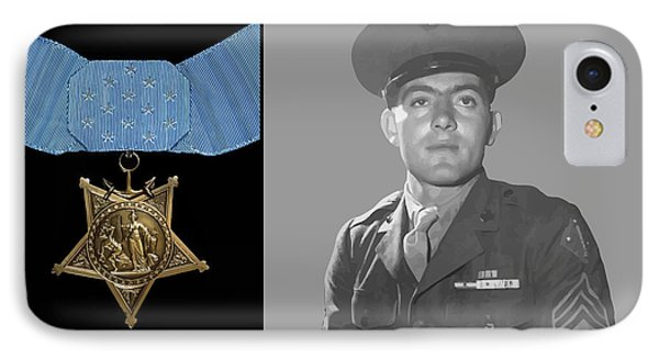 John Basilone And The Medal Of Honor Phone Case by War Is Hell Store