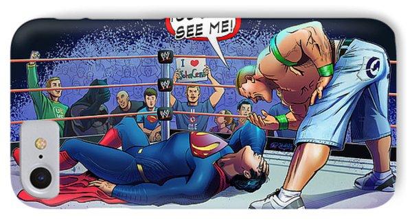 John Cena Vs Superman IPhone Case by Khaled Alsabouni