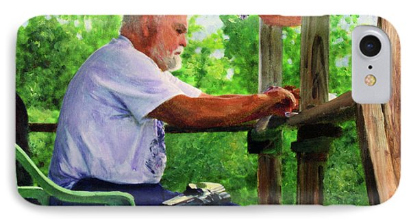 John Cleaning The Rifle IPhone Case by Donna Walsh
