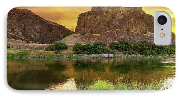 John Day River At Sunrise Phone Case by David Gn
