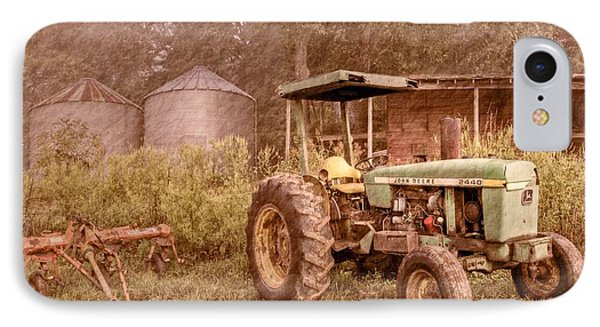 John Deere Antique IPhone Case by Debra and Dave Vanderlaan
