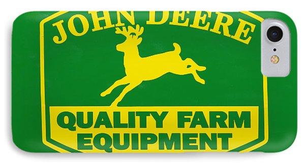 John Deere Farm Equipment Sign IPhone Case by Randy Steele