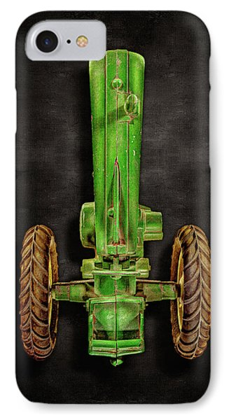 IPhone Case featuring the photograph John Deere Top On Black by YoPedro