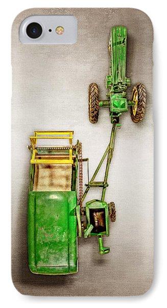 John Deere Tractor Harvester IPhone Case by YoPedro