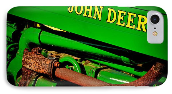 John Deere Tractor Mystery IPhone Case by Olivier Le Queinec