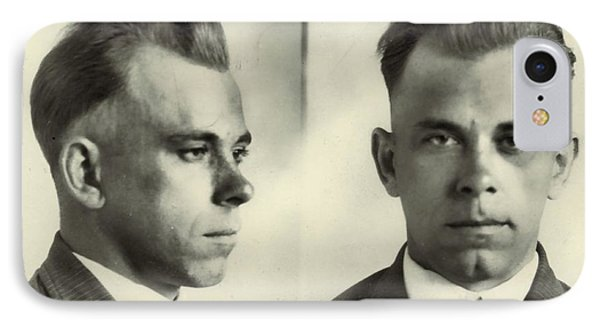 John Dillinger Mugshot IPhone Case by Dan Sproul