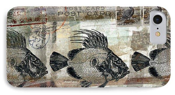 John Dory Fish Postcard IPhone Case by Carol Leigh