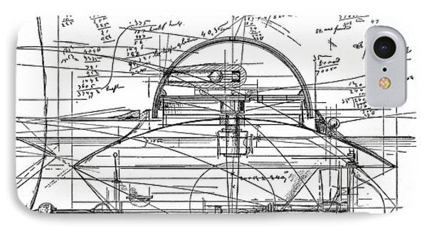 John Ericsson's Sketch For Turret Ship, 1890 IPhone Case