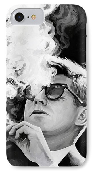 IPhone Case featuring the painting John F. Kennedy Artwork 1 by Sheraz A