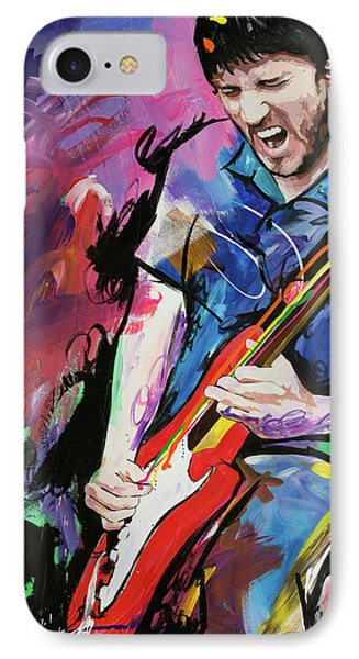 John Frusciante IPhone Case by Richard Day