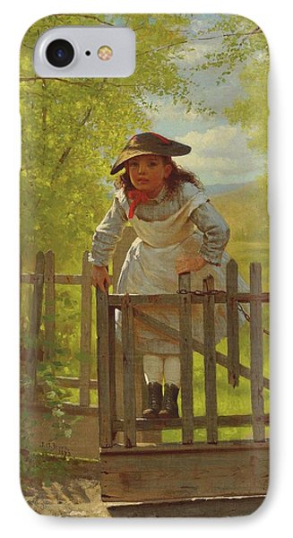 John George Brown The Tomboy 1873 IPhone Case by Movie Poster Prints