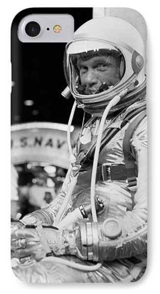 John Glenn Wearing A Space Suit IPhone Case by War Is Hell Store