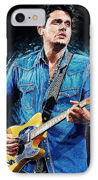 John Mayer IPhone Case by Taylan Apukovska