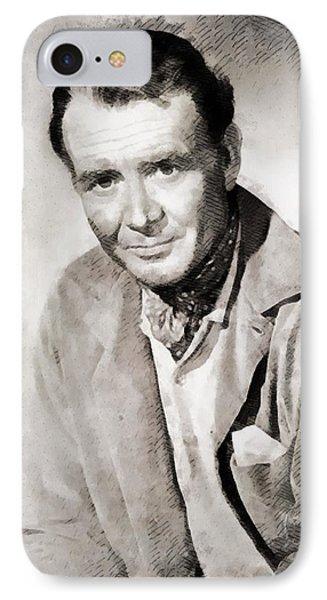 John Mills Vintage Actor IPhone Case by John Springfield