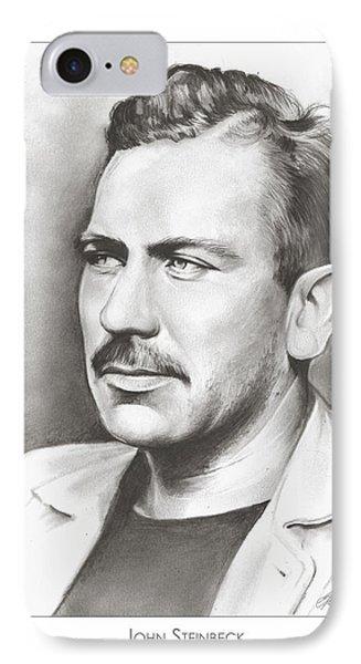 John Steinbeck IPhone Case by Greg Joens