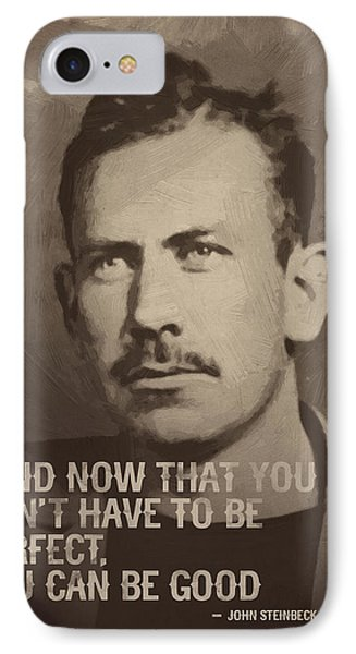 John Steinbeck Quote IPhone Case by Afterdarkness