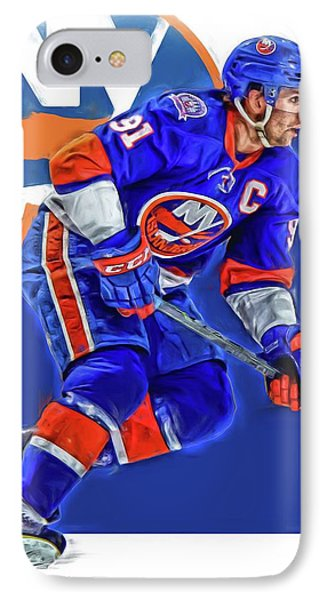 John Tavares New York Islanders Oil Art Series 1 IPhone Case